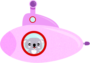 just a koala bear in a submarine