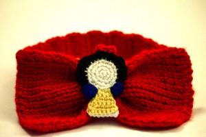 Snow White Headband Bow Front