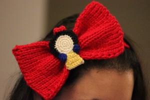 Snow White Headband Bow Side