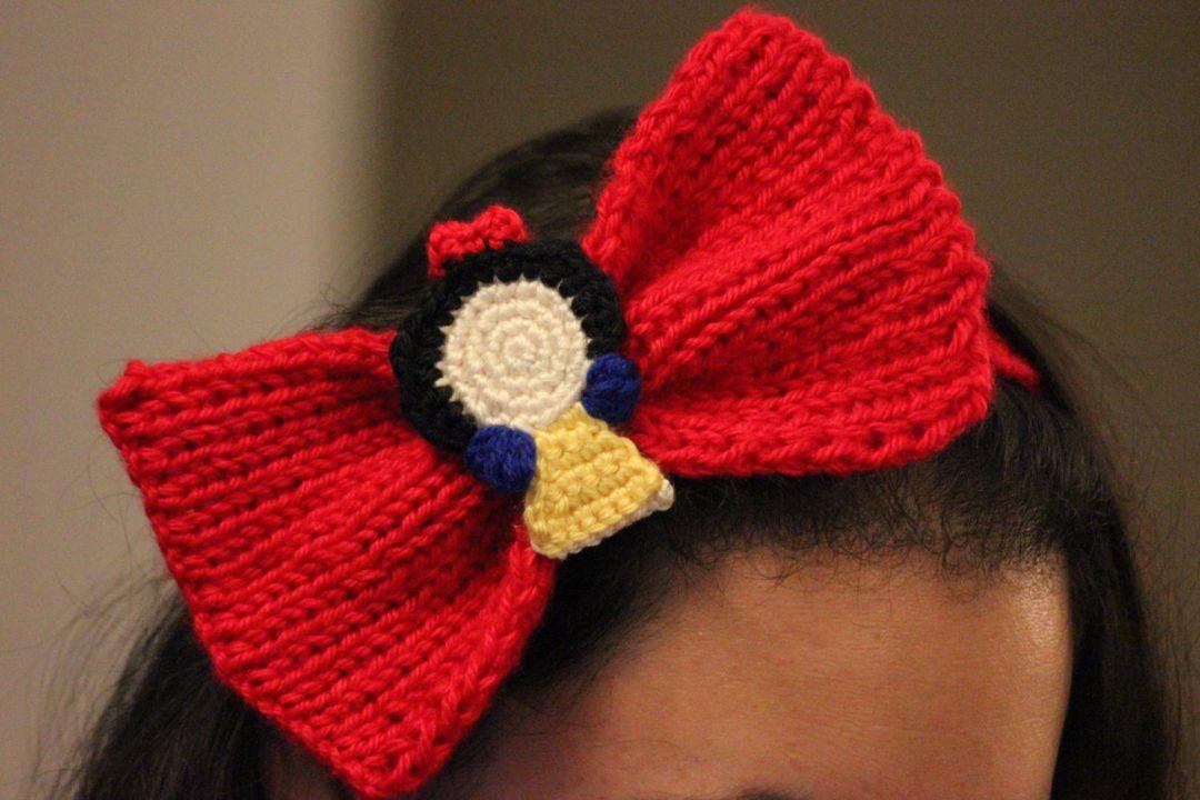 Snow White Inspired Headband Bow Sahrit In Wonderland