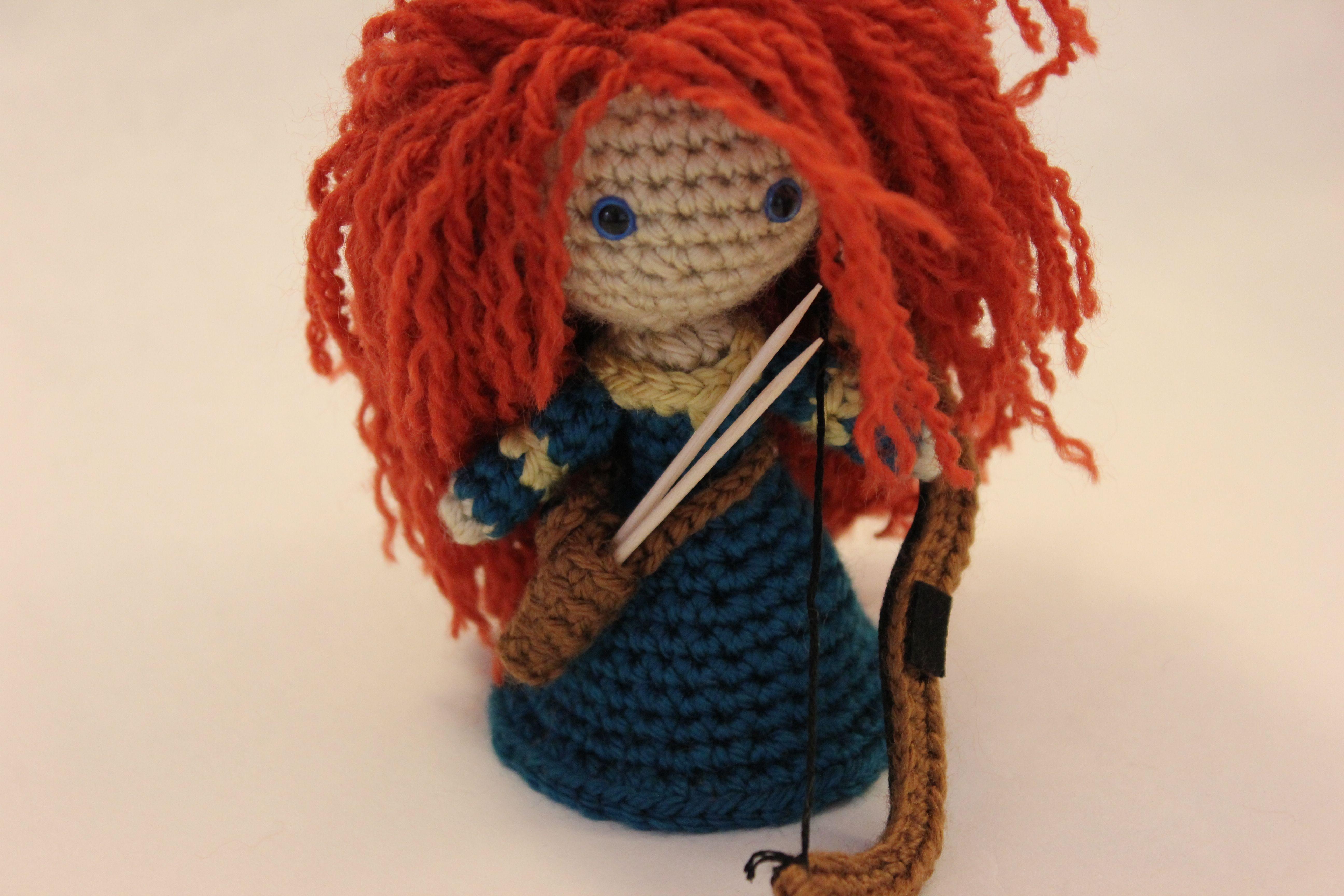 Designer Crochet Amigurumi Patterns Merida Warrior Princess : Merida In The Works Sahrit in Wonderland