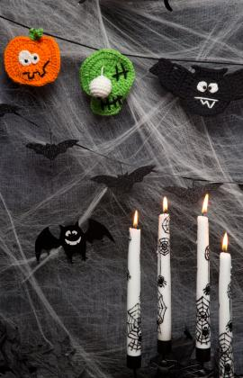Halloween Party Banner Crochet Pattern by Sahrit
