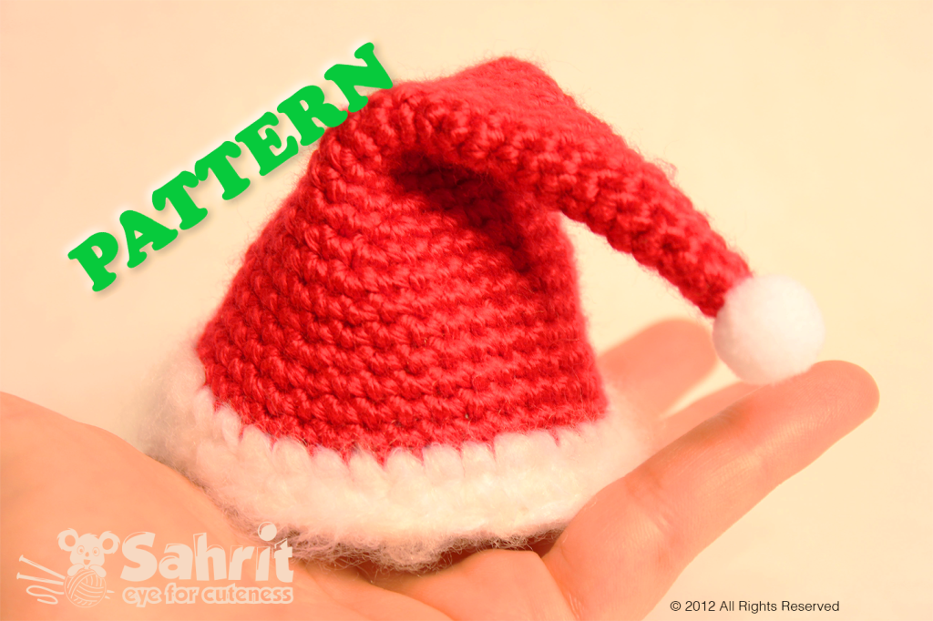 Hat Santa Claus Amigurumi Pattern by Sahrit