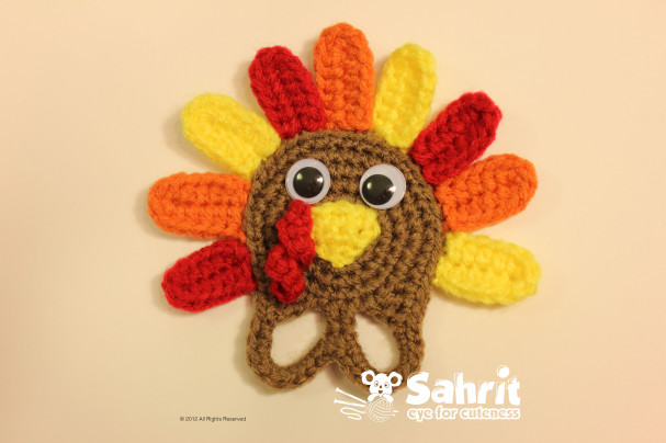 Turkey Applique Finger Puppet Free Pattern by Sahrit