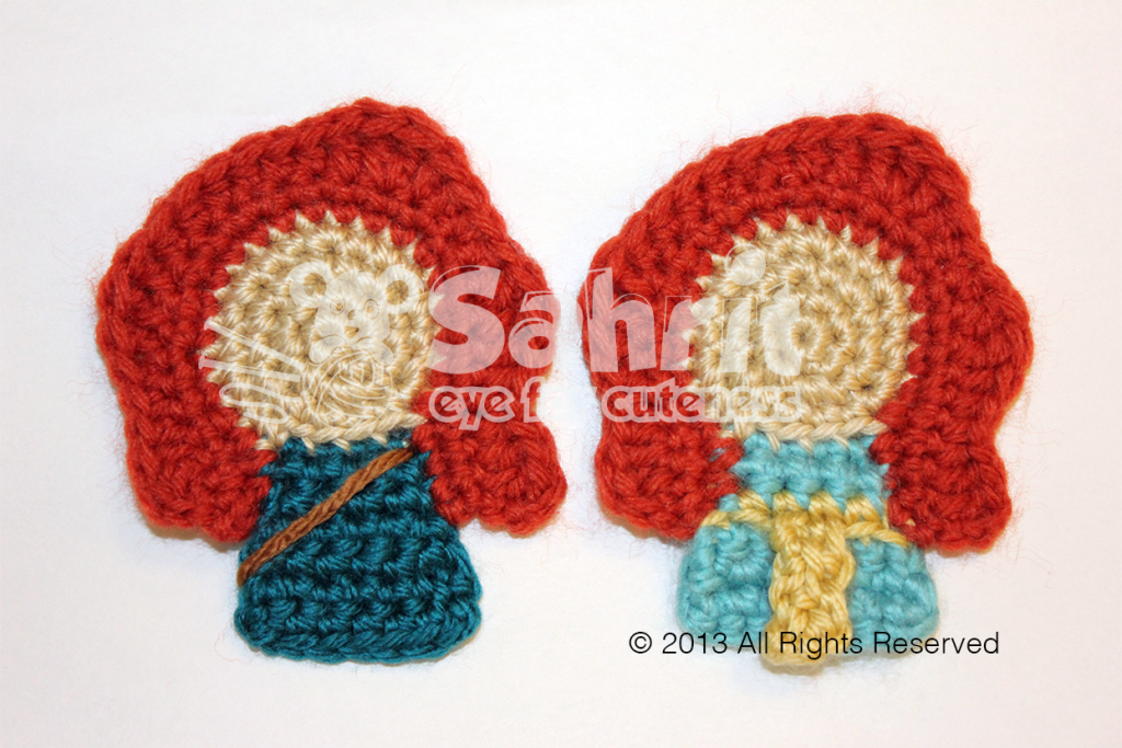 Merida Warrior and Princess Applique pattern by Sahrit