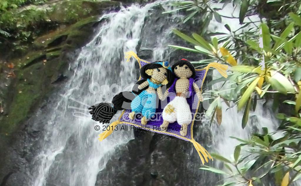 Aladdin Jasmine Flying Magic Carpet Free Pattern by Sahrit