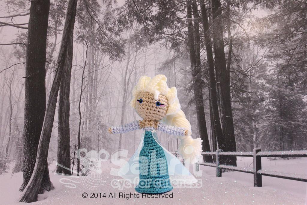Elsa Frozen Amigurumi Doll Pattern by Sahrit