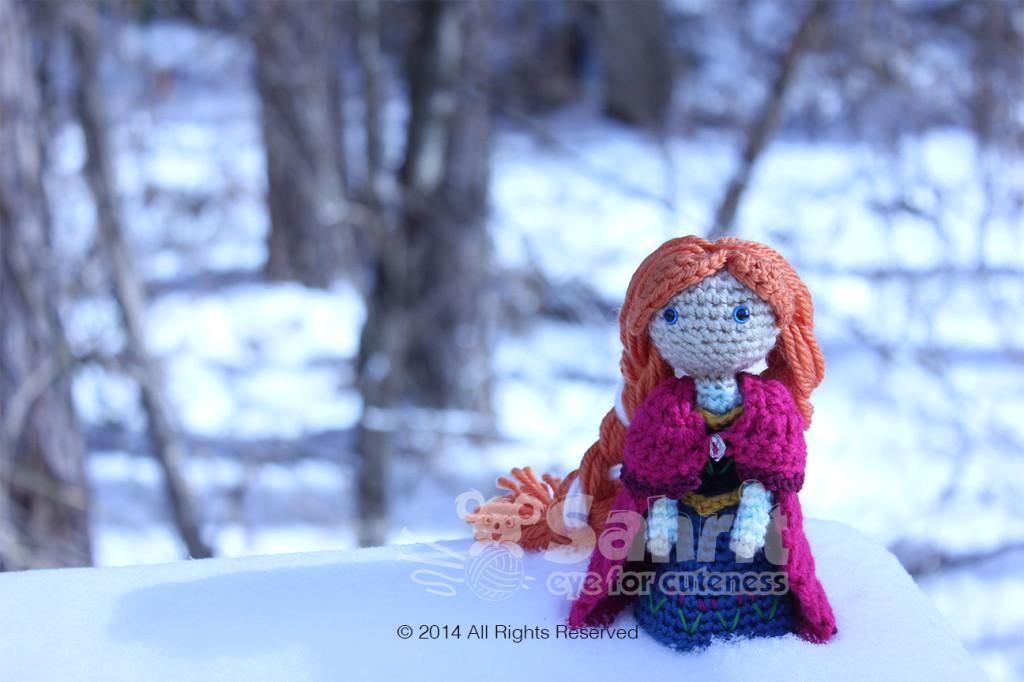 Anna Frozen Amigurumi Doll Pattern by Sahrit