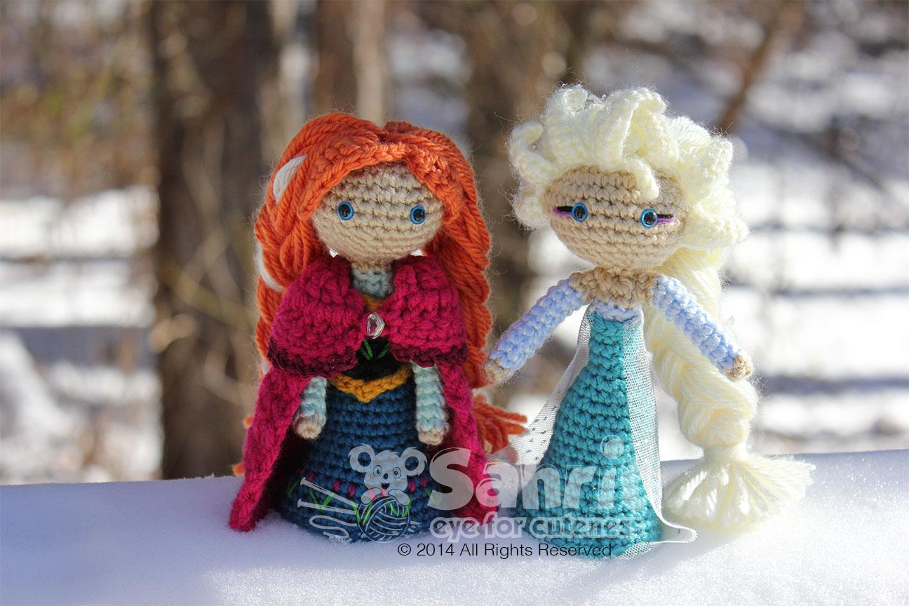 Crochet Elsa Doll : Princess Anna Sahrit in Wonderland