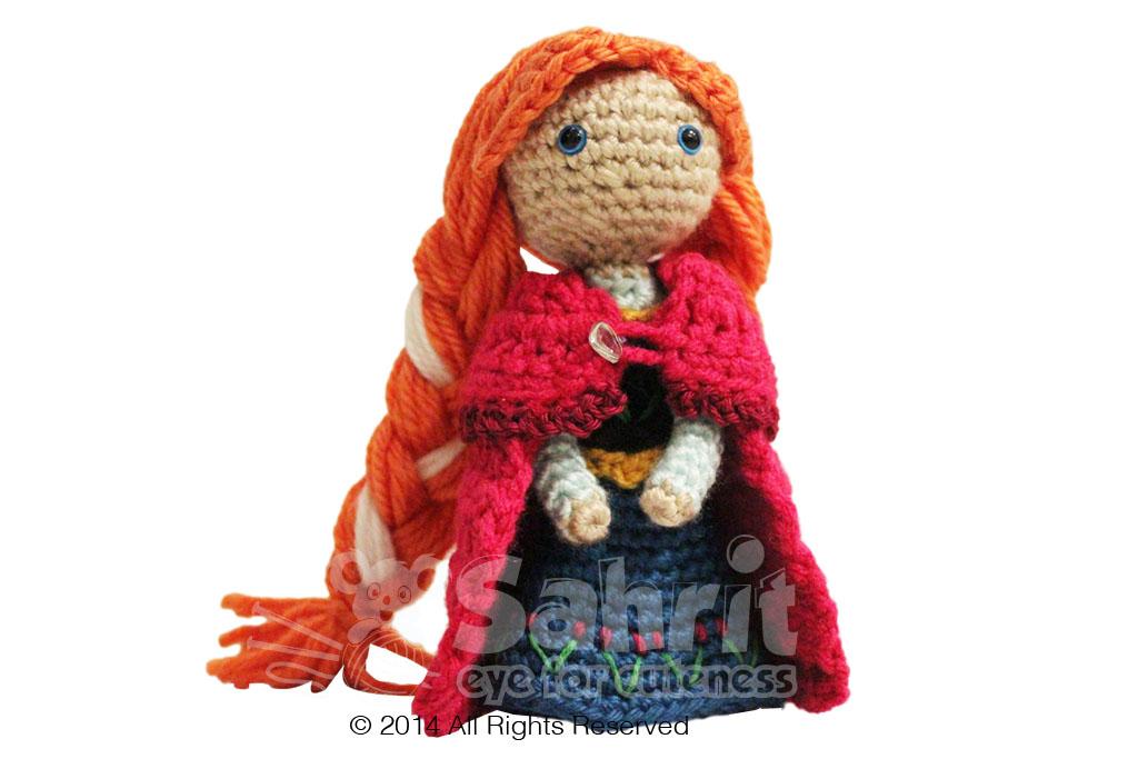Crochet Frozen Anna Doll : Anna Frozen Amigurumi Doll Pattern by Sahrit Sahrit in ...