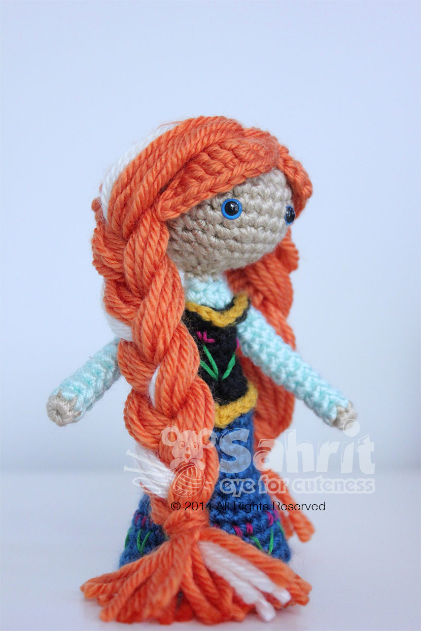 Anna Frozen Amigurumi Doll Pattern by Sahrit