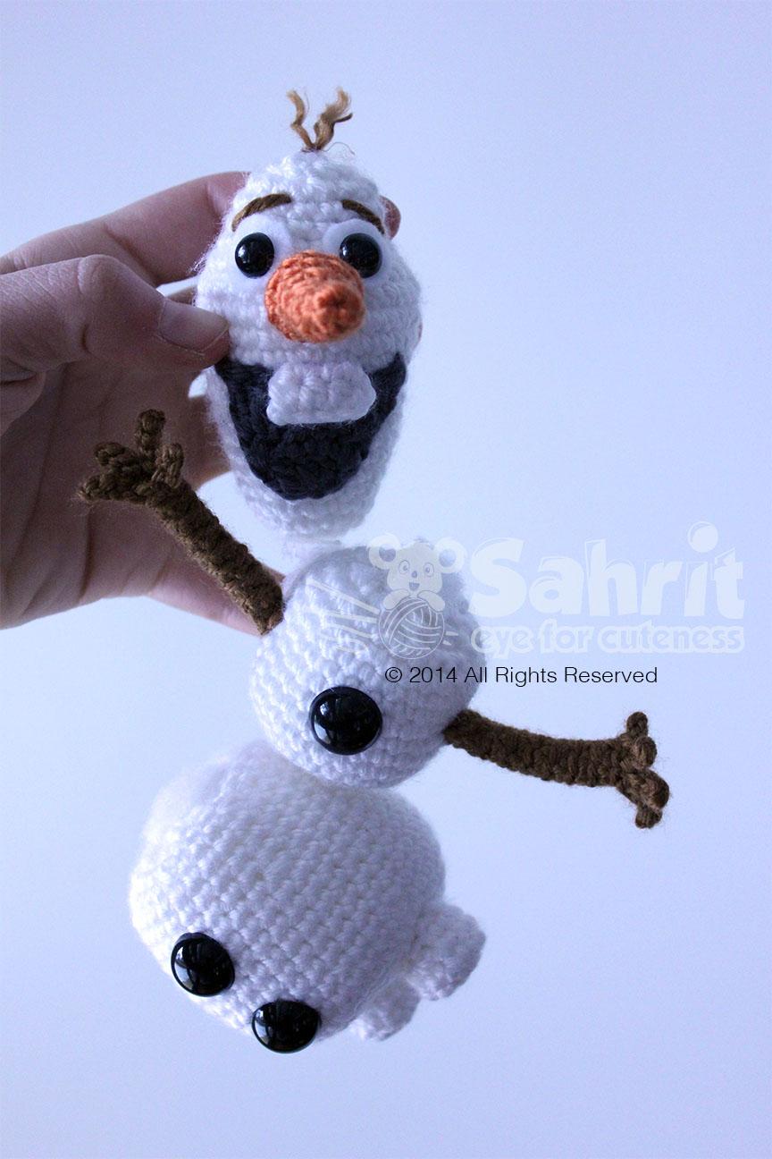 Olaf Snowman Frozen Amigurumi Doll Crochet Pattern by Sahrit