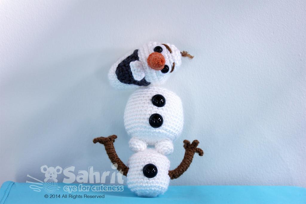 Crochet Doll Cradle Purse Pattern : Olaf The Funniest Snowman! Sahrit in Wonderland