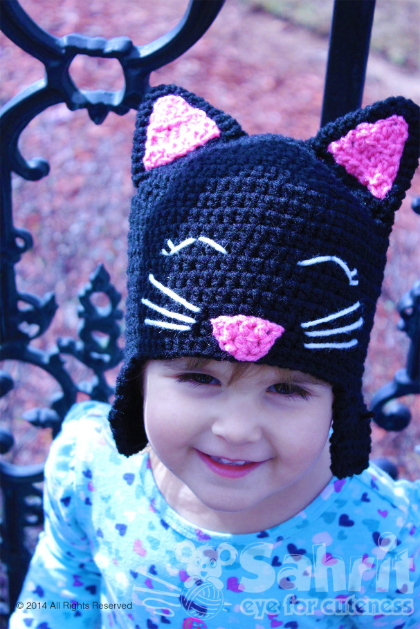 Happy Kitty Cat Hat Pattern by Sahrit