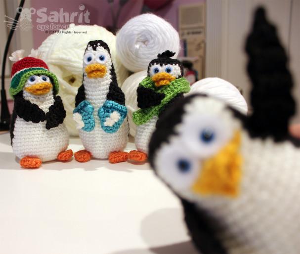 Photo bomb Penguin Pattern by Sahrit