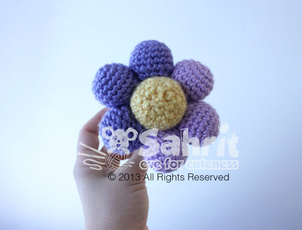 Flower Rattle Amigurumi Pattern by Sahrit