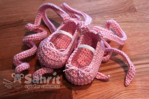 Ballet Newborn Baby Shoe Patterns by Sahrit