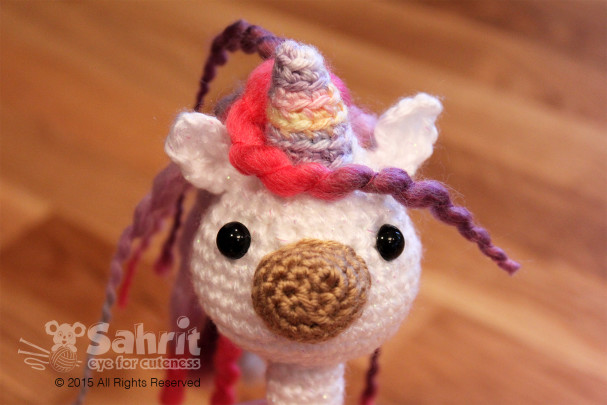 Sparkle the Unicorn Rattle Pattern by Sahrit