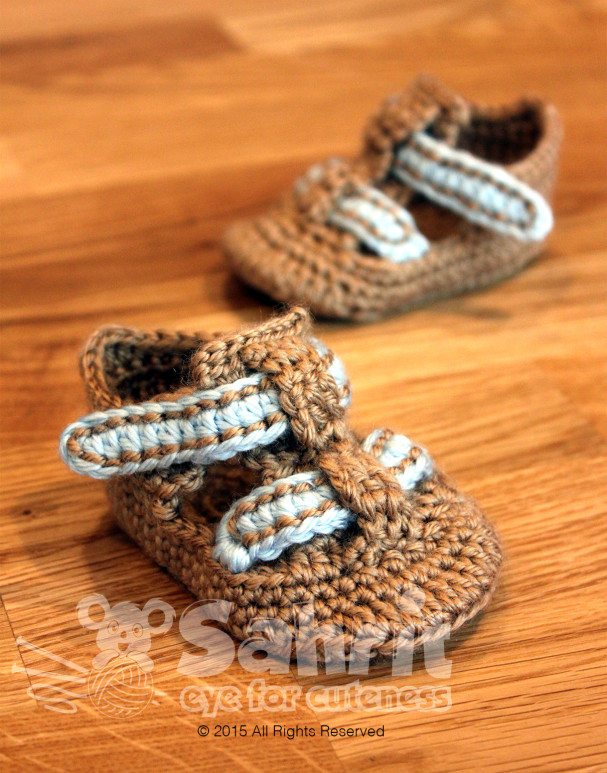Baby Shoe Sandals Pattern by Sahrit