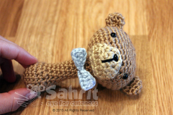 Bow Tie Teddy Rattle Pattern by Sahrit