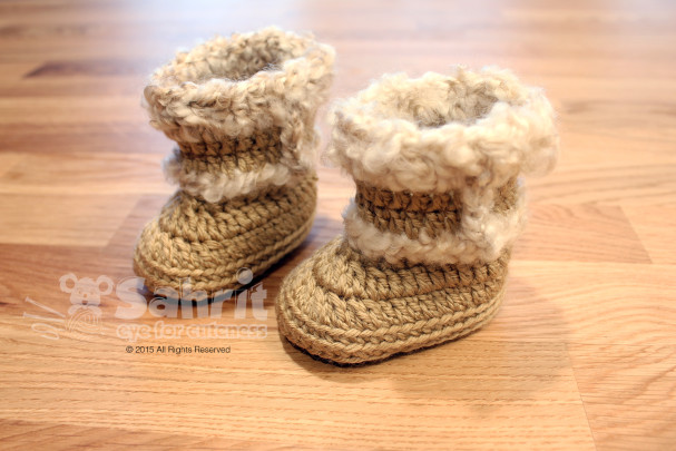 Cozy Booties Pattern by Sahrit
