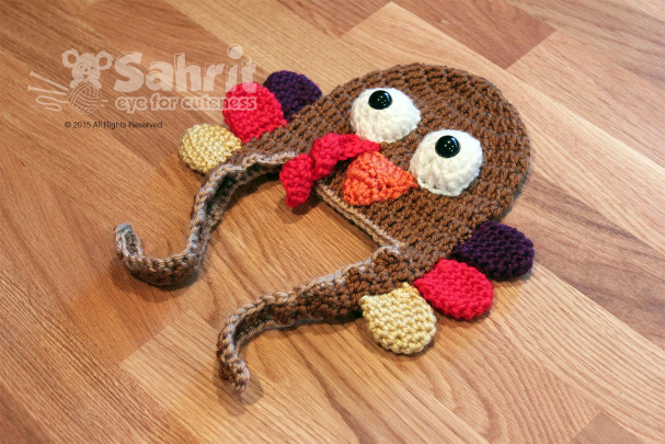 Turkey Hat Newborn Pattern by Sahrit