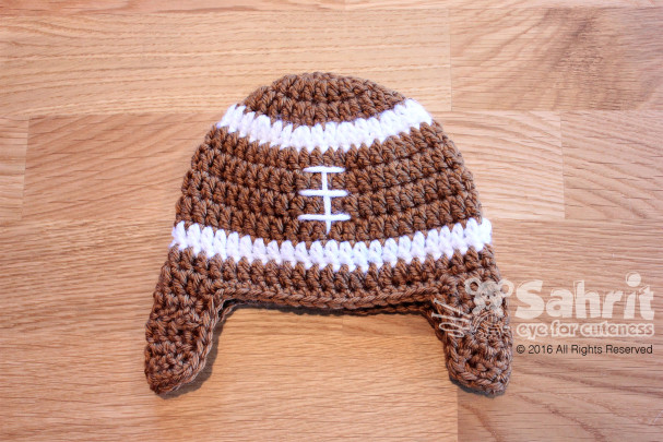 Football Hat Pattern by Sahrit