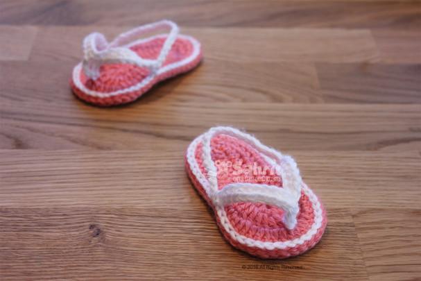 Baby Flip Flops Pattern by Sahrit