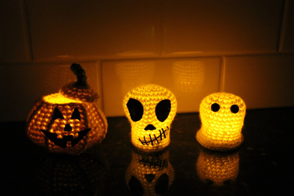 Ghost Skull and Pumpkin patterns by Sahrit